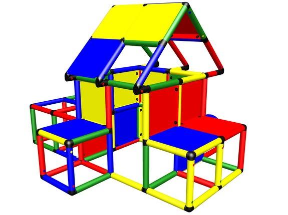 MoveAndStic M3007 Spielhaus mit Kletterröhren