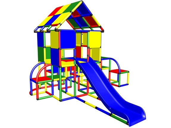 MoveAndStic M3050 Stelzenhaus mit grossem Spieldach und Rutsche