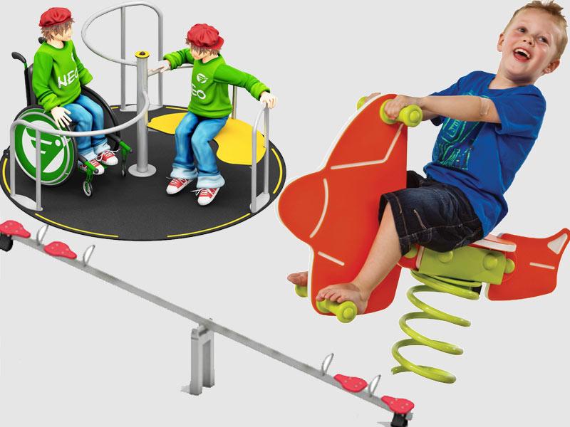 Karusselle, Balkenwippen, Wipptiere für den Spielplatz