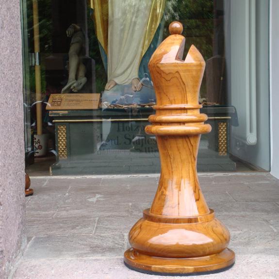 Publikumsmagnet Schachfiguren
