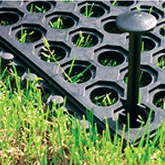 Gummiwabenmatte, Fallschutzmatte schwarz, 100x150 cm