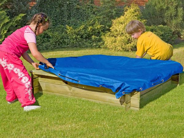 Sandkastenabdeckung blau für Sandkasten 180 x 180 cm