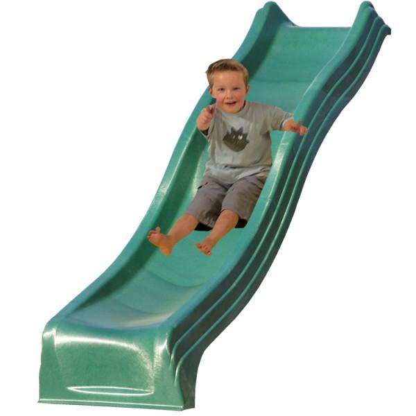 Anbaurutschbahn mit Welle, apfelgrün, 244 cm