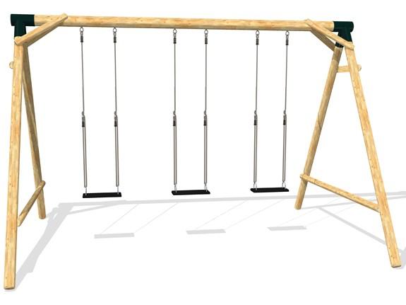Schaukel APESA Lärchenholz 3 Platz, wählen Sie den passenden Schaukelsitz als Option