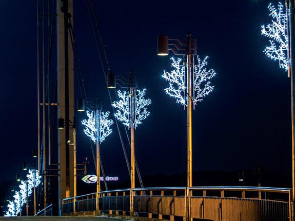Kandelaberbeleuchtung als leuchtenden Weihnachtsbaum<
