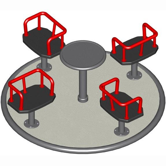 Karussell 6 mit 4 Kindersitzen