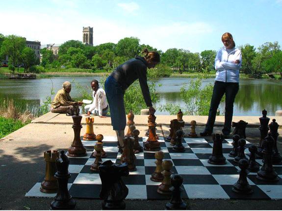 Bodenroste als Schachfelder