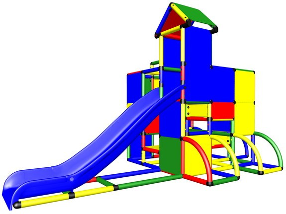 MoveAndStic M3048 Spielturm Play up and Down mit Rutsche