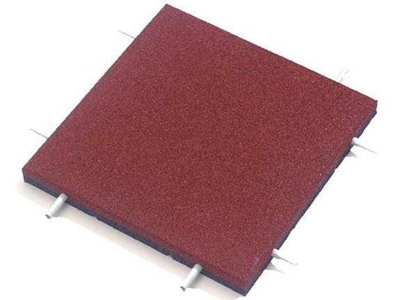 Fallschutzplatte 50x50x4.5cm rot, bis 160cm Fallhöhe zugelassen
