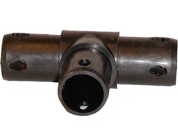 MoveAndStic Flächenkupplung 3-armig, T-Kupplung, schwarz