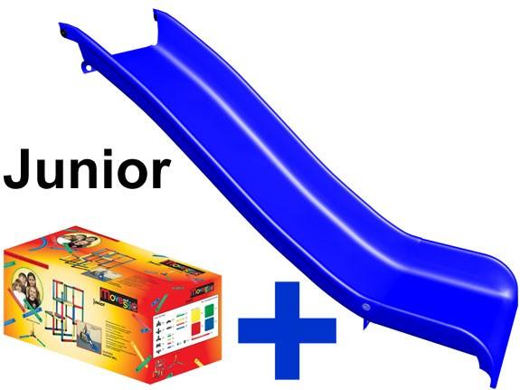 MoveAndStic Baukasten Junior + Rutschbahn
