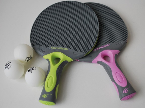 Tischtennis-Schläger Tacteo Duo inkl. 3 Bällen