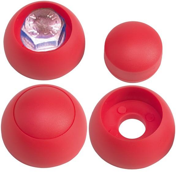 Schraubenabdeckung mit Kappe, rot für Schrauben M12
