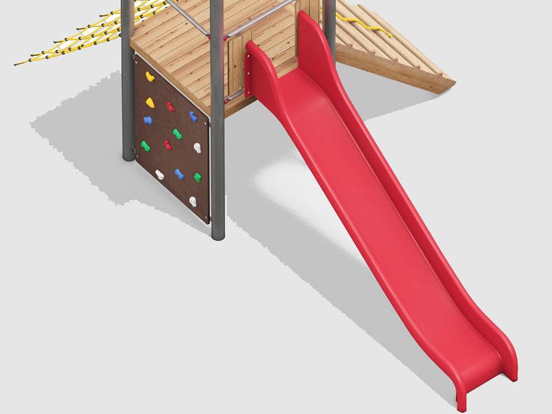 GFK-Anbaurutschen für Spielgeräte und Hangrutschbahnen