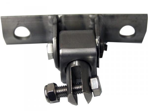 Schaukelaufhängung Edelstahl mit Drehwirbel für Rundholz oder Metallrundrohr