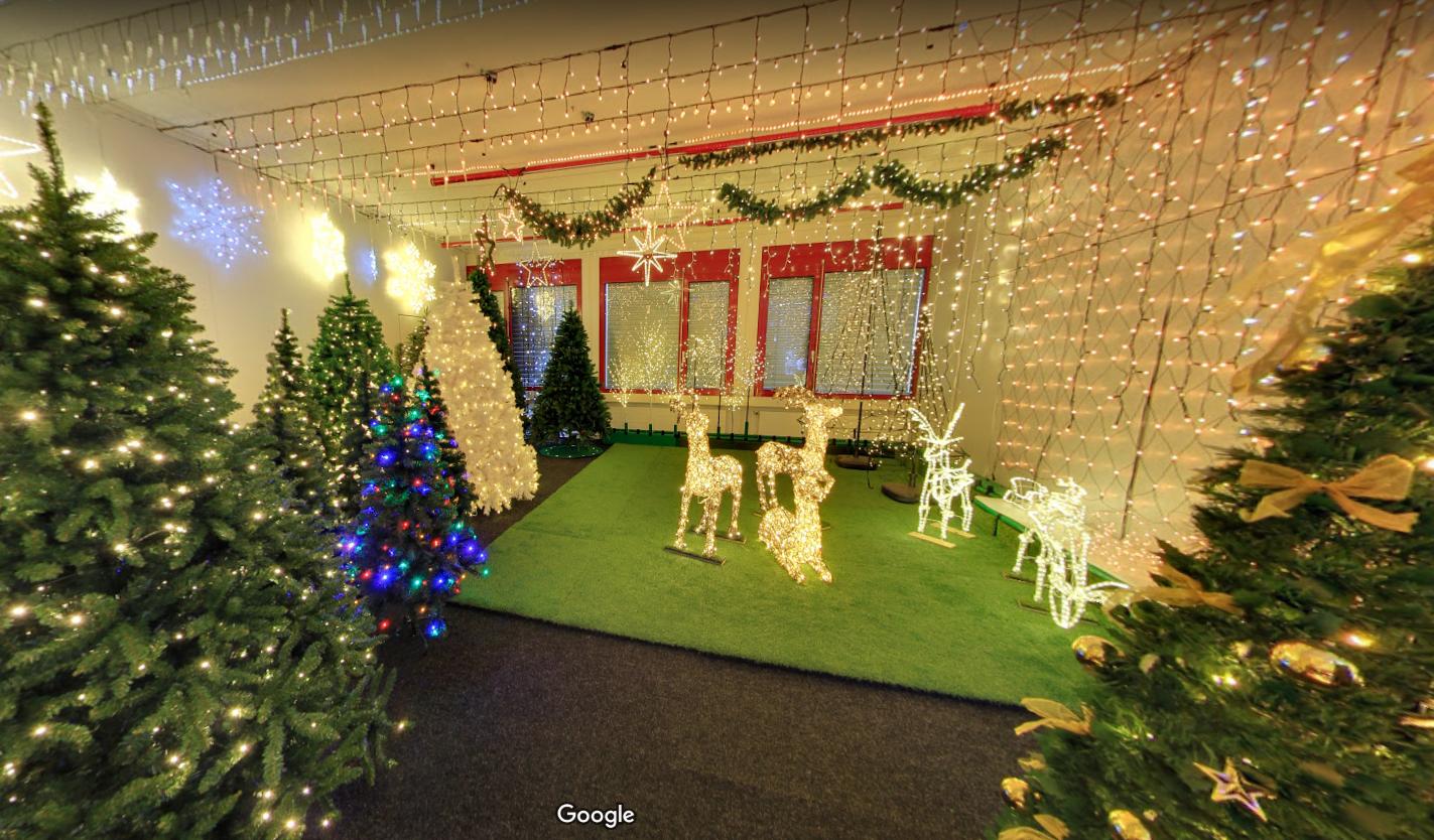 3-D Rundgang Start Ausstellung Weihnachtsbeleuchtung