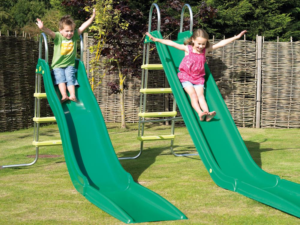 Garten-Rutschbahnen mit Leitern