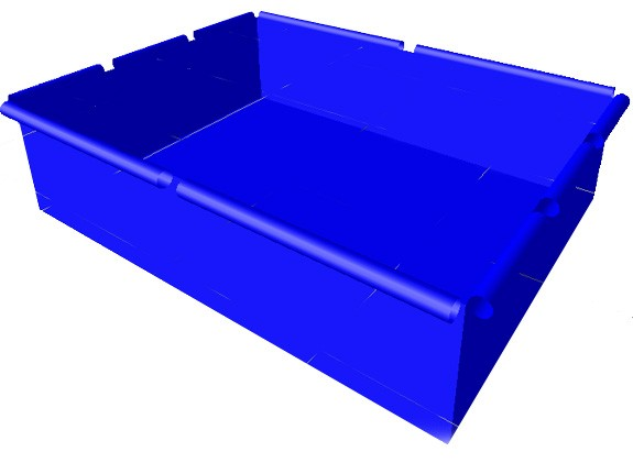MoveAndStic Poolfolie für Poolgrösse 125 x 165 cm