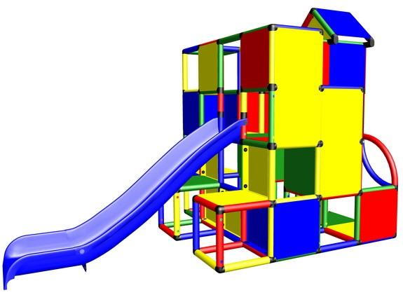MoveAndStic M3022 Spielturm mit Rutsche und viel zum Klettern