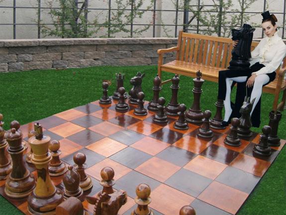 Giant Chess Schachfelder sind ein optischer Leckerbissen