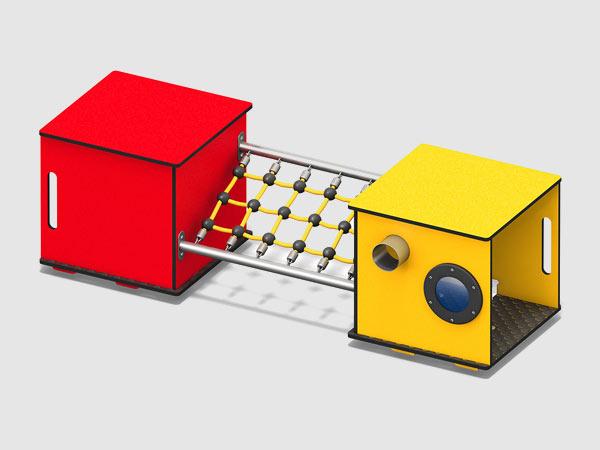 Spielgarte in Kubusform für Orte mit geringem Platz