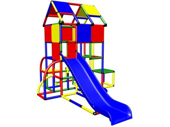 MoveAndStic M2000A Spielturm hohe Sicherheitsgeländer, Rutsche und Badepool