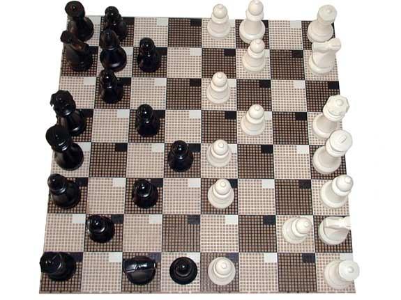 Garten-Schach Spielfläche klein 120 x 120 cm
