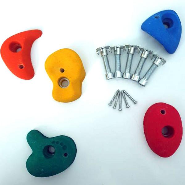 Klettersteine Set mit 5 bunten Klettersteinen perfekt für kleine Finger