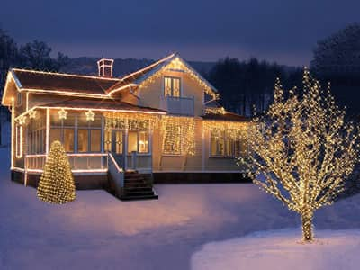 Weihnachtsbeleuchtung Expo mit traditionellem Licht