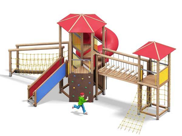 Spielanlagen für den Spielplatz