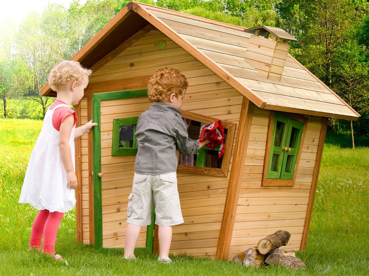 Spielhäuser Aus Holz Holzhäuser Und Stelzenhäuser Für Den Garten