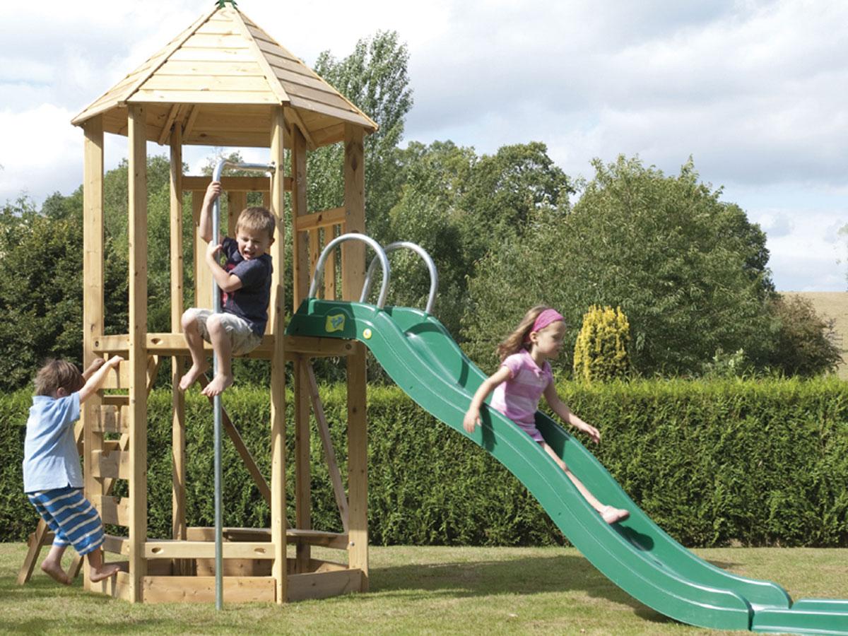 Kletterturm 6-eckig, der Spielturm für Ihren Garten