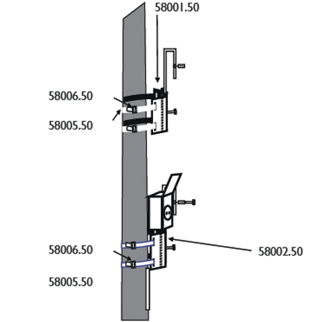 2. Schritt Montage Grundplatte an Pfosten