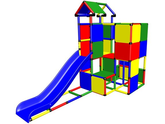 MoveAndStic M3010 Spielturm gross mit Anbaurutsche und Dach