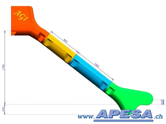 AGI Modulrutschbahn extra breit Podesthöhe 175 cm