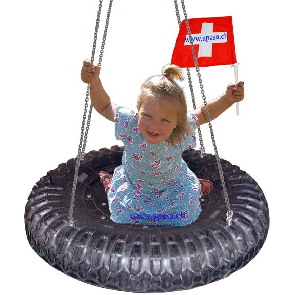 Pneu Sitz mit halben LKW Reifen Durchmesser ca. 110cm