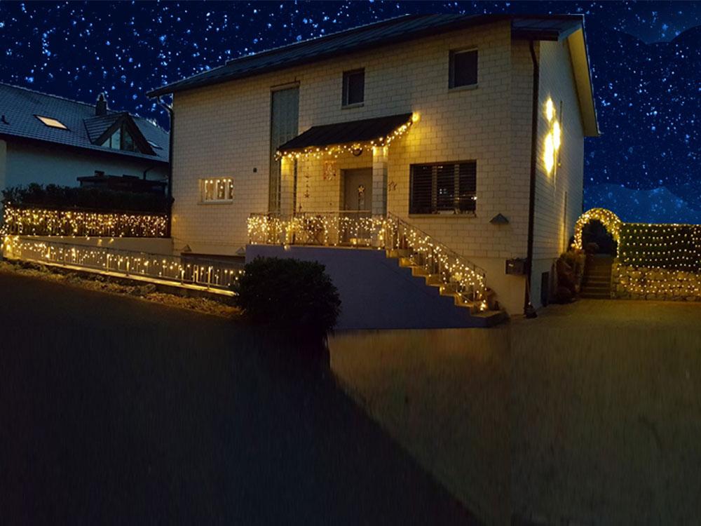 Weihnachtsbeleuchtung Led Outdoor.System 24 Led Lichterketten Weihnachtsbeleuchtung Apesa