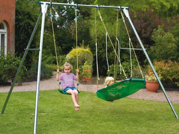 Gartenschaukel APESA 2 Platz aus Metall ohne Sitze AUSVERKAUFT für 2019