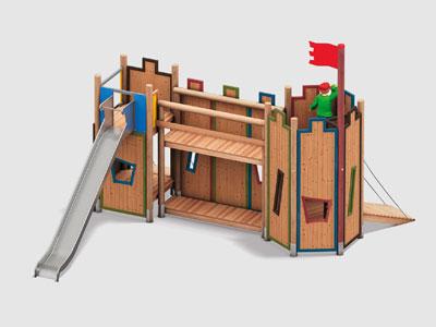 Der Spielplatz wird zur Burg