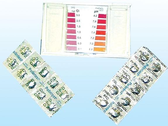 Nachfüllset für Wassertestgerät für PH- und Chlormessung