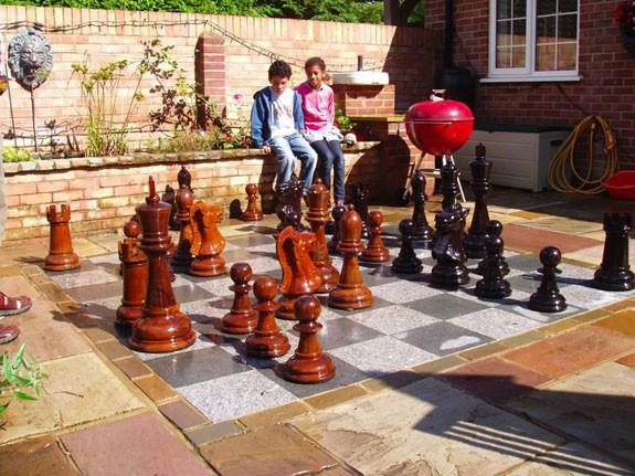 Giant Chess, Riesenschach-Set Königshöhe 90 cm