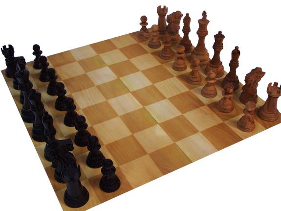 Ein edles Schachfeld aus Holz