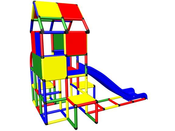 moveandstic m3005 spielturm mit haus und dach und rutsche. Black Bedroom Furniture Sets. Home Design Ideas