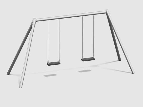Schaukel EN1176 Balken Metall, Stützbeine Metall