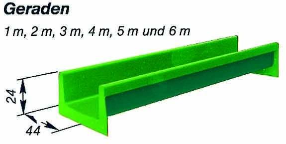 Element-Rutschbahn Gerade 600 cm