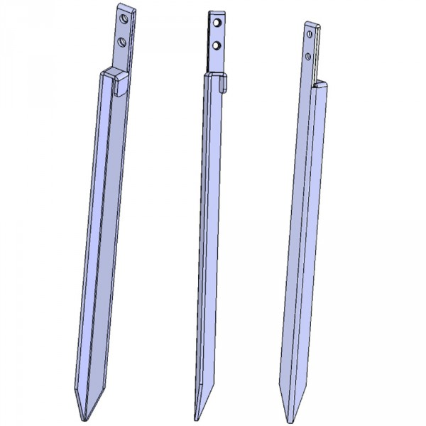 4 Anker extra lang 54 cm, Einschlagtiefe 46 cm, hergestellt in der Schweiz