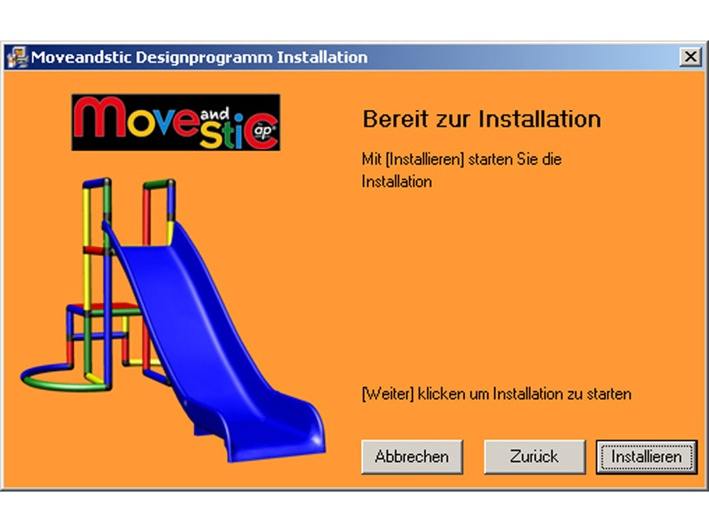 MoveAndStic 3-D Software Installation Schritt 4