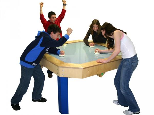 Speedhockey-Tisch quadratisch, 4-er Spieltisch 150 x 150 cm