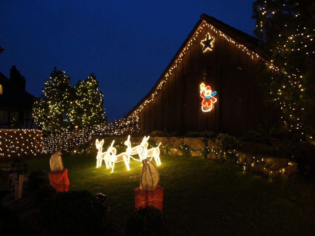 Weihnchtslichter im Garten mit System 24 LED