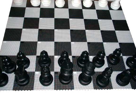 Garten-Schach Spielfläche gross 280 x 280 cm